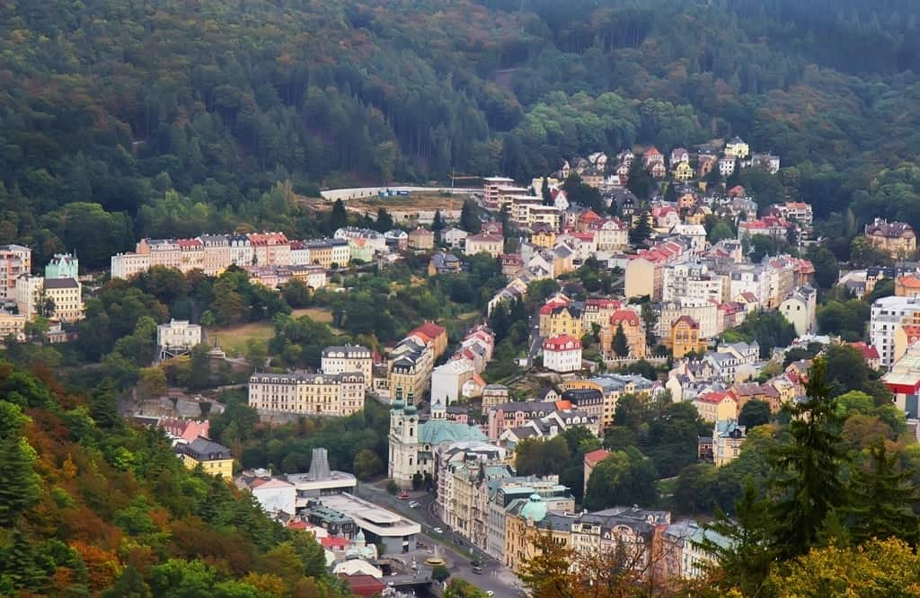 The view from Diana tower - Karlovy Vary things to do