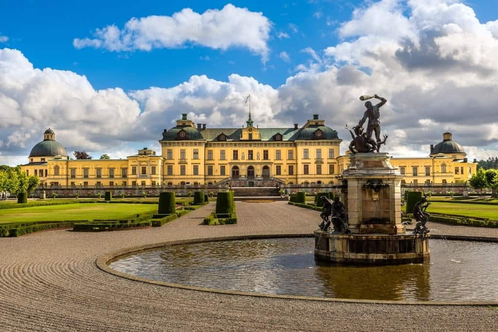View over Drottningholm palace