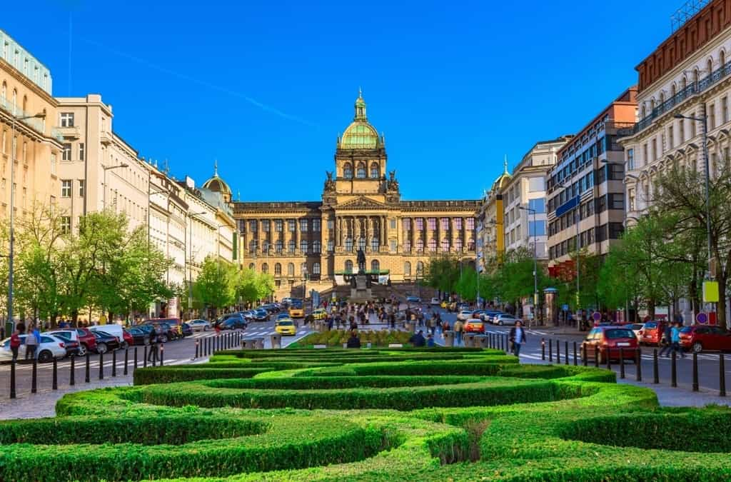 3 days in Prague itinerary - Wenceslas Square and the National Museum