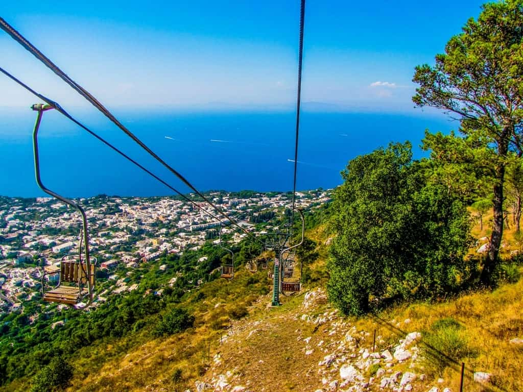 Chairlift on Monte Solaro, Capri