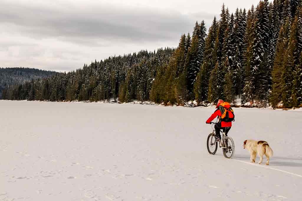 things to do in Riga in winter snowbike