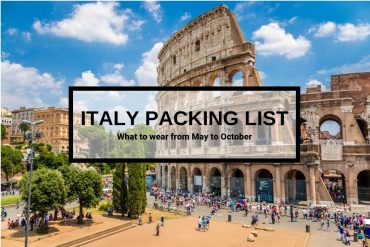 What to wear in Italy - Packing list