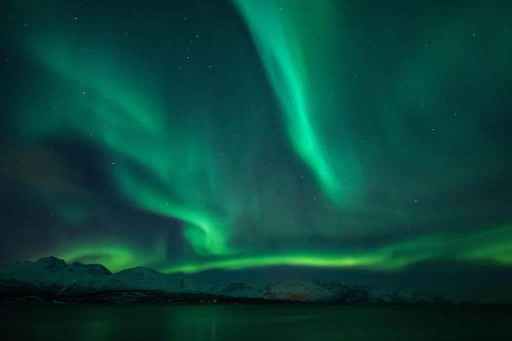 Best place to see the Northern lights in Norway - Lyngen Fjord