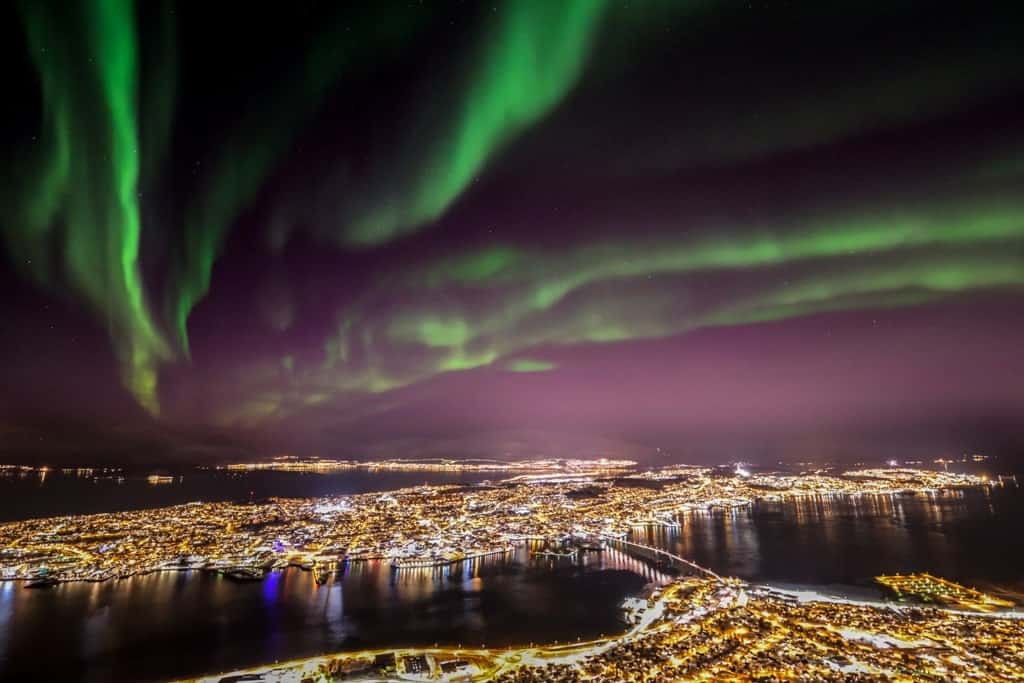 Best place to see the Northern lights in Norway - Tromsø -