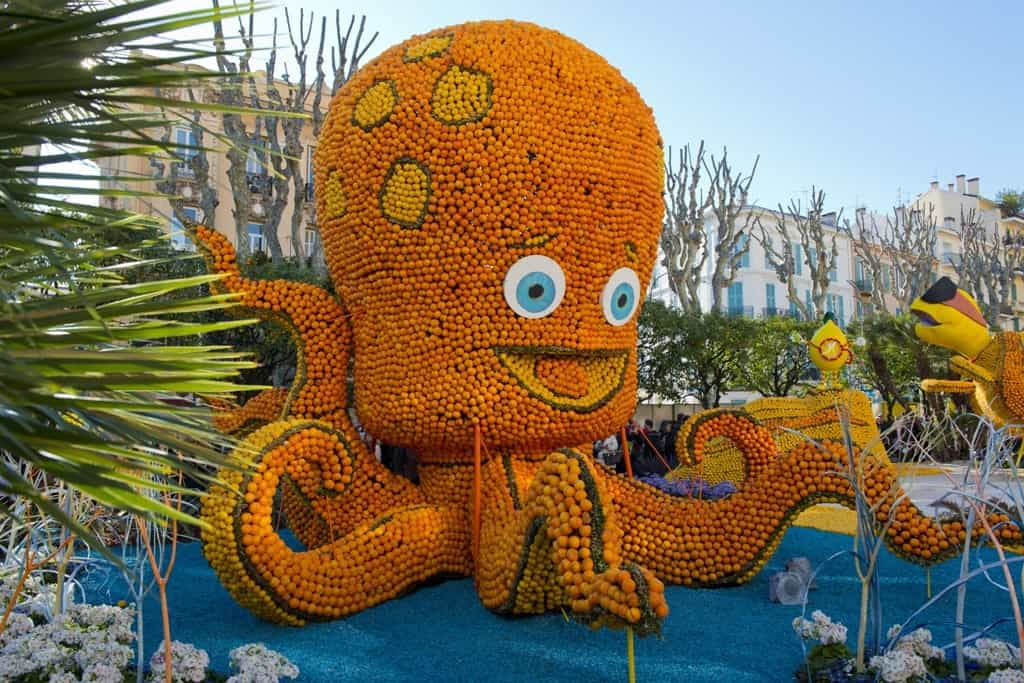 Lemon festival in Menton - Best places to visit in europe in Europe