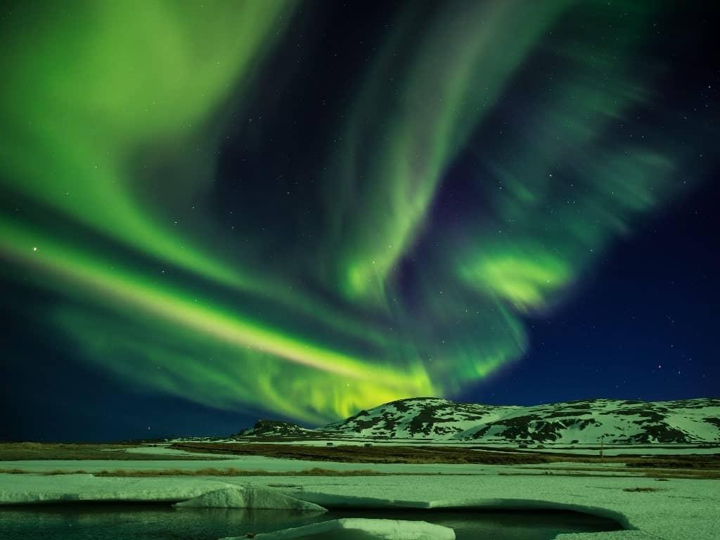 Aurora borealis over Varanger Peninsula