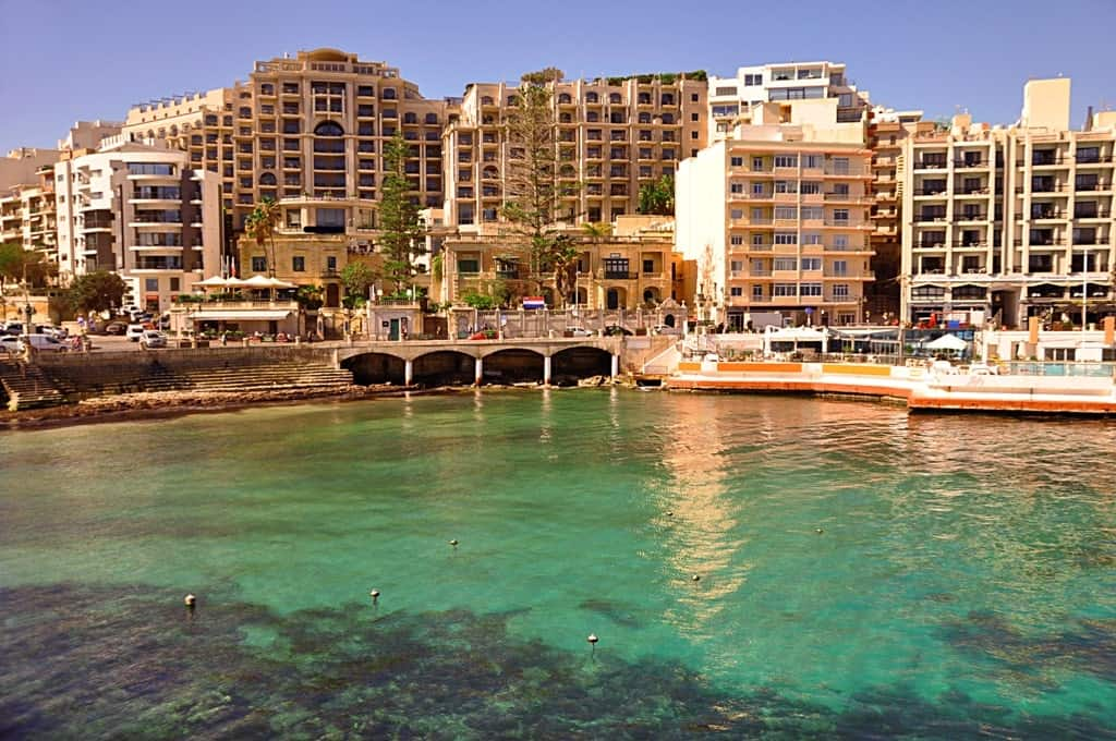 Balluta Bay. St. Julian's - great areas to stay in Malta