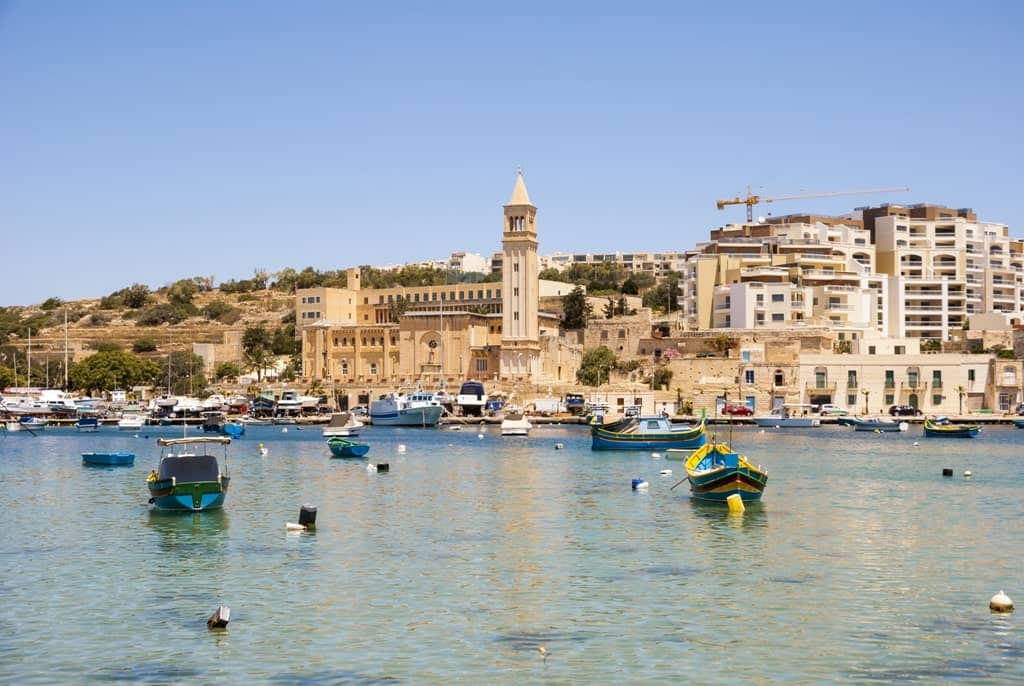 Marsaskala city and bay - great area to stay in Malta