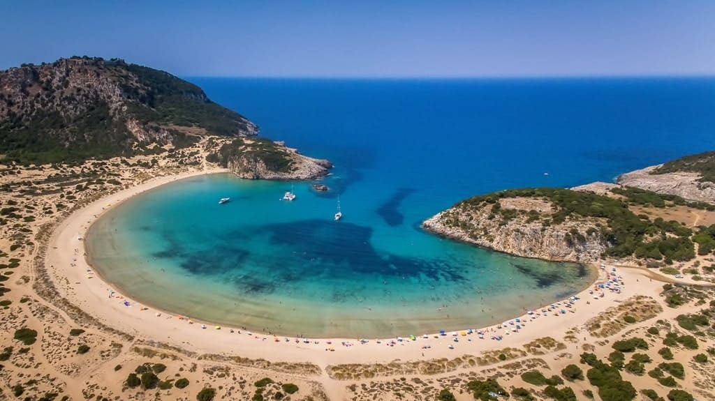 Best sandy beaches in Greece - Voidokilia