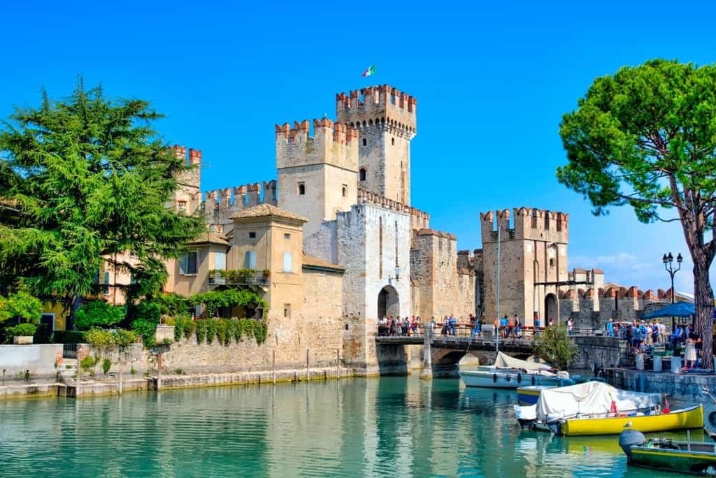 medieval castle Scaliger on lake Garda - things to do in Lake Garda