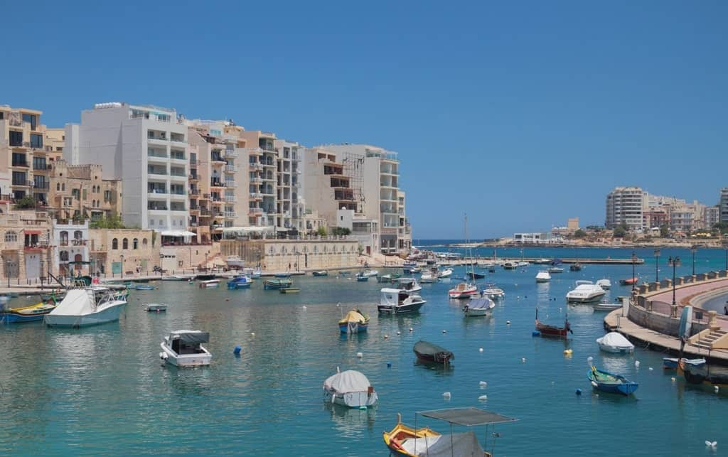 Spinola bay. St. Julian's - great area to stay in Malta
