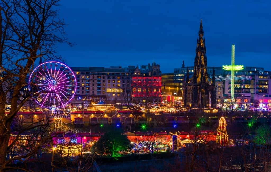 Edinburgh Christmas Market - Places to visit in Europe in December