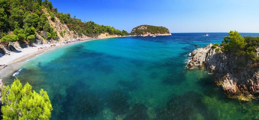 Stafylos beach is one of the best greek island beaches