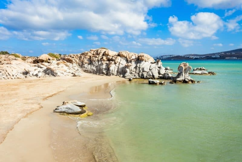 Kolimbithres beach - Greek island hopping routes