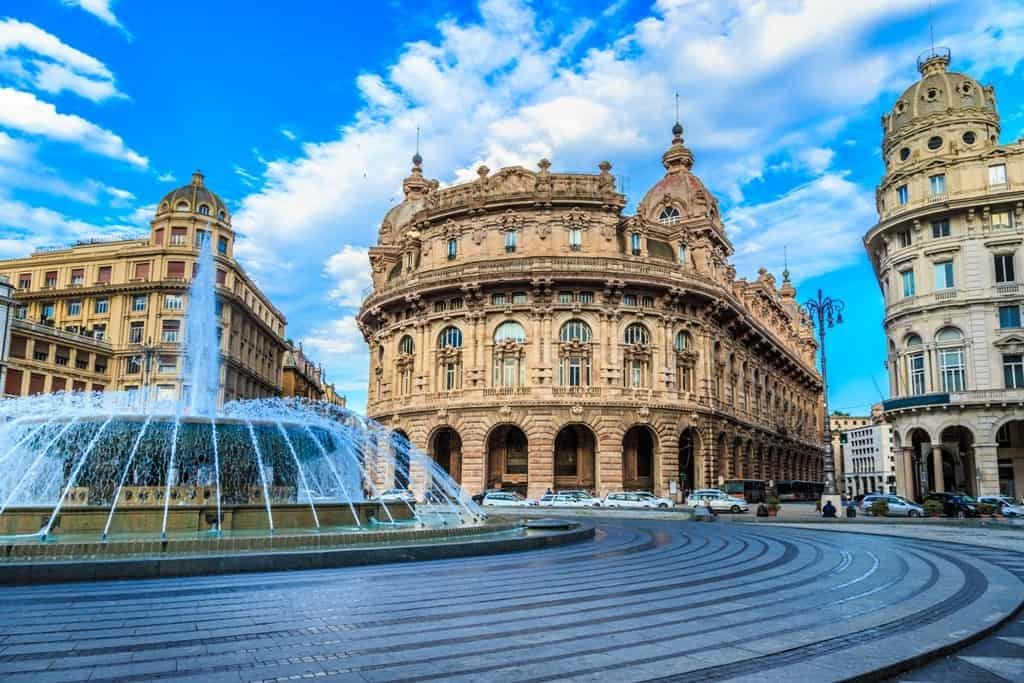 Genoa city in the Italian Riviera