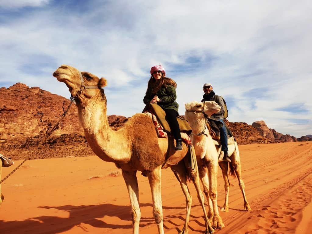 camel ride wadi rum Jordan itinerary