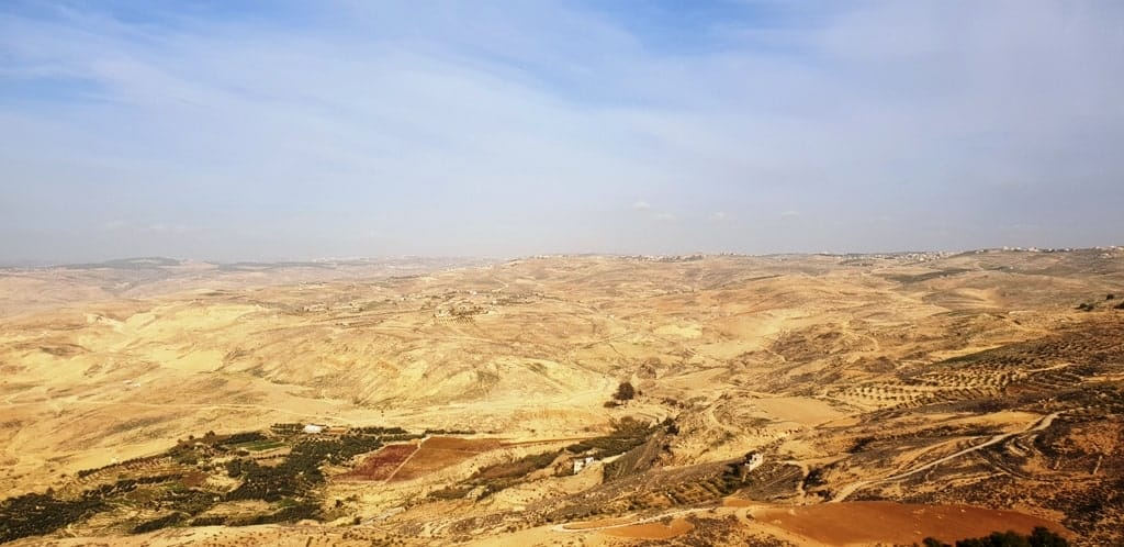 The Holy Land from Mount Nebo - Jordan itinerary