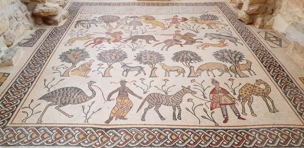 Mosaics in Mount Nebo
