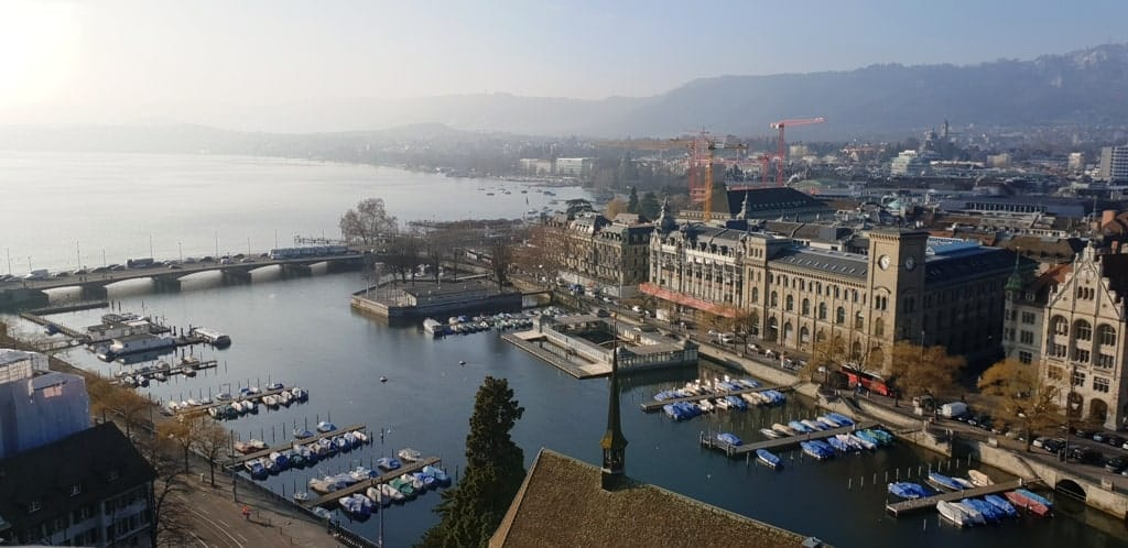 The view from Grossmünster in Zurich - must do in a 2 day itinerary