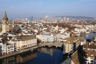 The view from Grossmünster in Zurich - 2 days in Zurich in winter