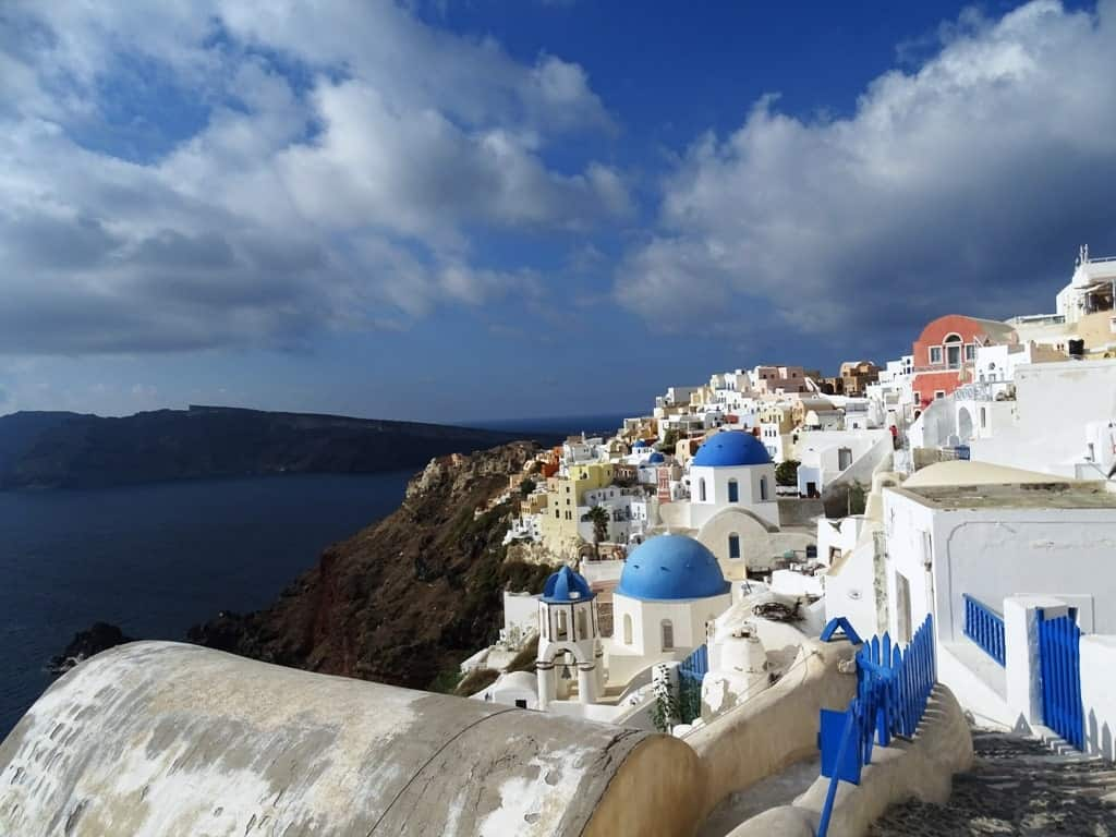 Oia Santorini in winter