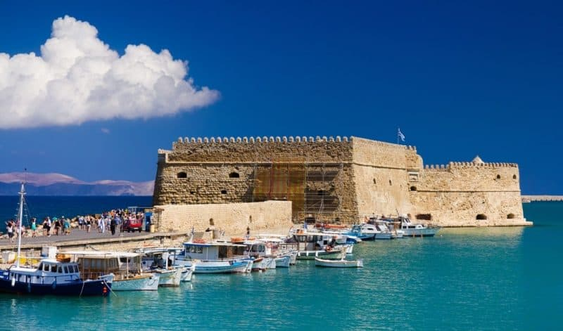 Port in the city of Heraklion