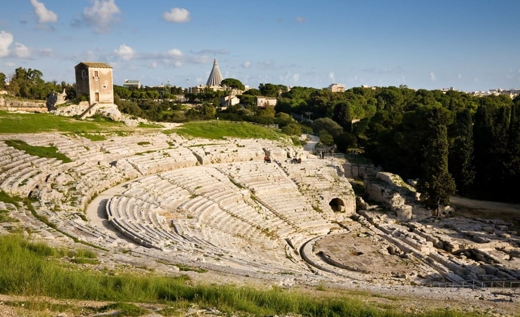 The ancient greek theatre of Syracuse in Sicily - 5 days in Sicily