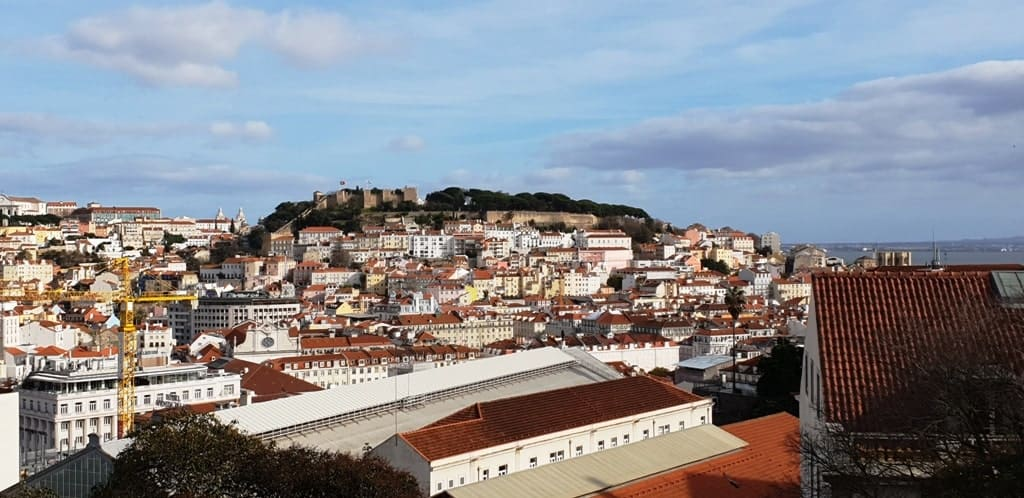 Praça da Alegria viewpoint - What to do in Lisbon in 4 days
