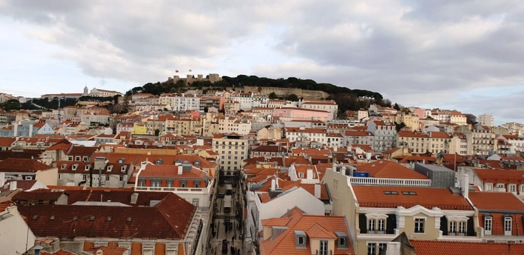 View from the Santa Justa Lift - What to do in Lisbon in 4 days