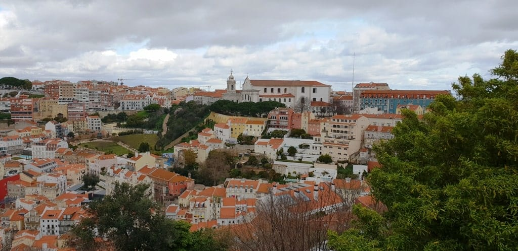 The view from the Castelo de Sao Jorge - Lisbon itinerary