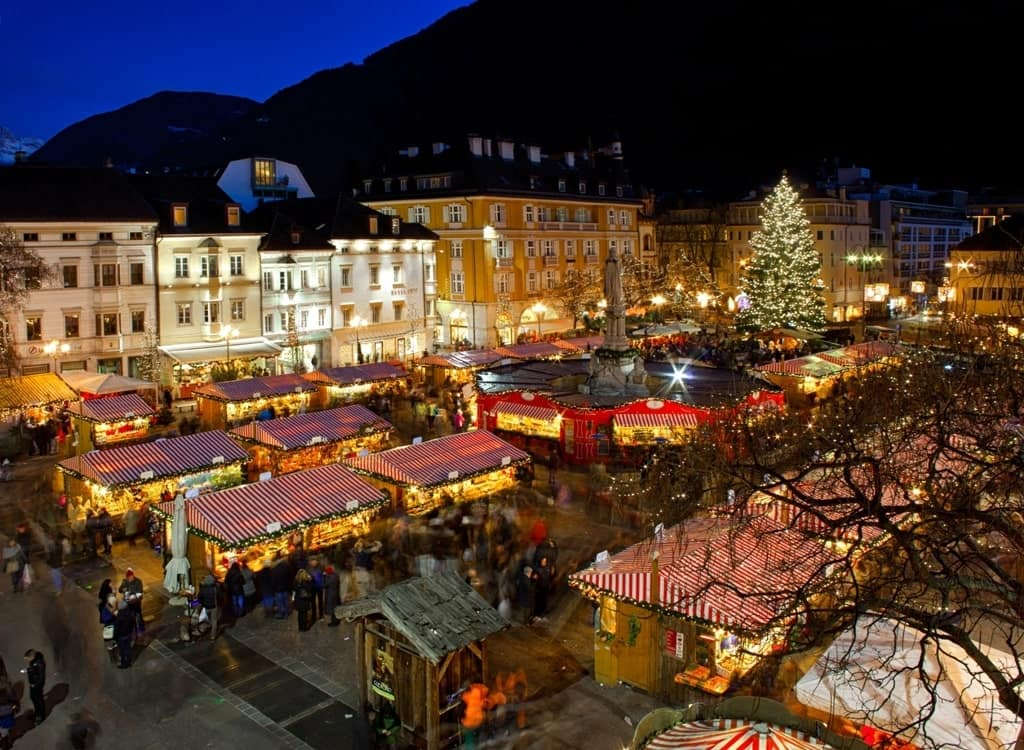 Christmas market in Bolzano - winter in Italy