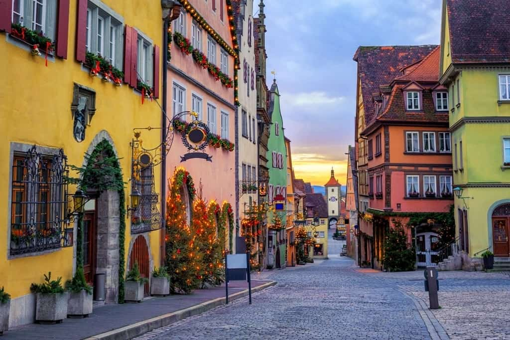 Rothenburg ob der Tauber - Where to go in Germany in winter=