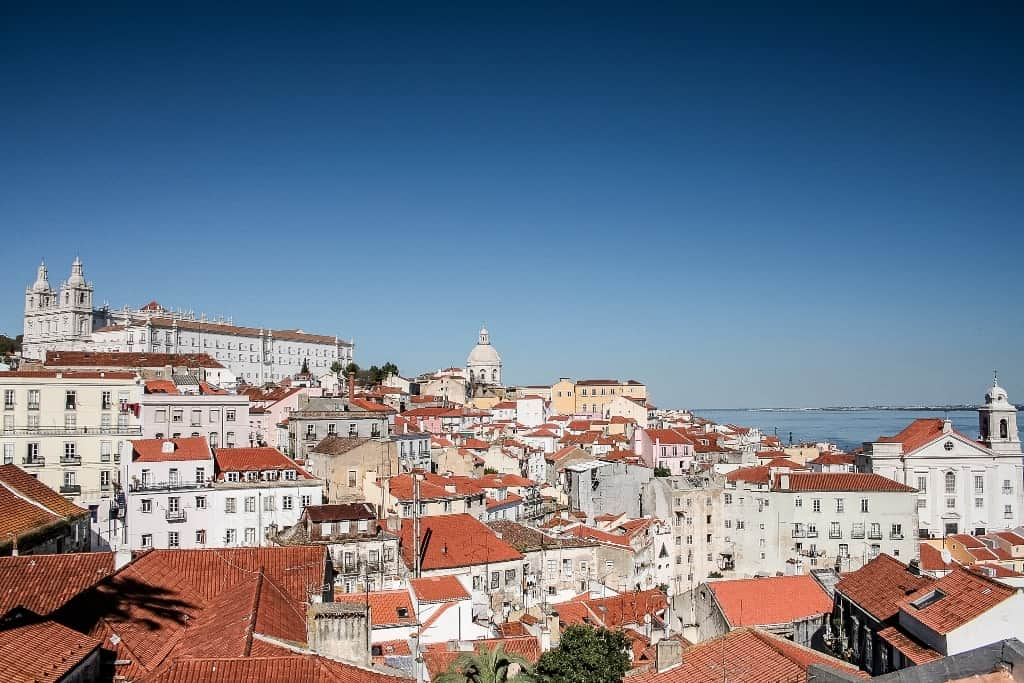 The Portas do Sol viewpoint - 4 day Lisbon itinerary