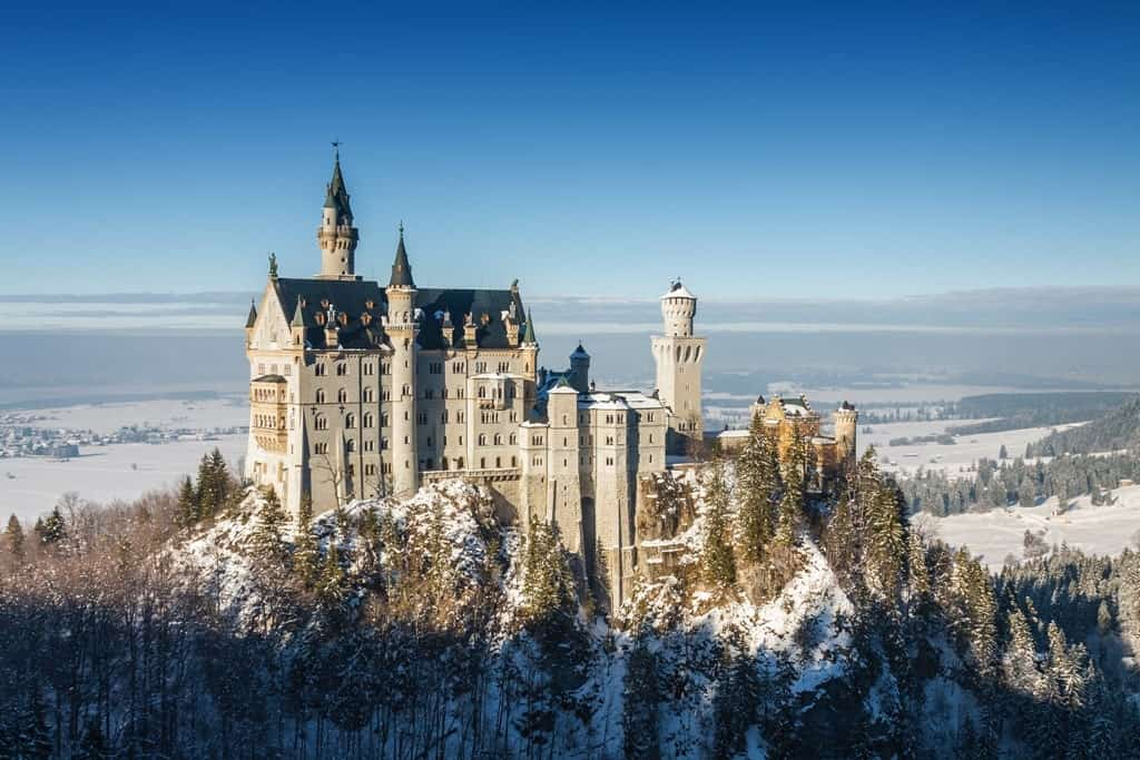 Neuwachstein castle - Best places to visit in Germany in winter