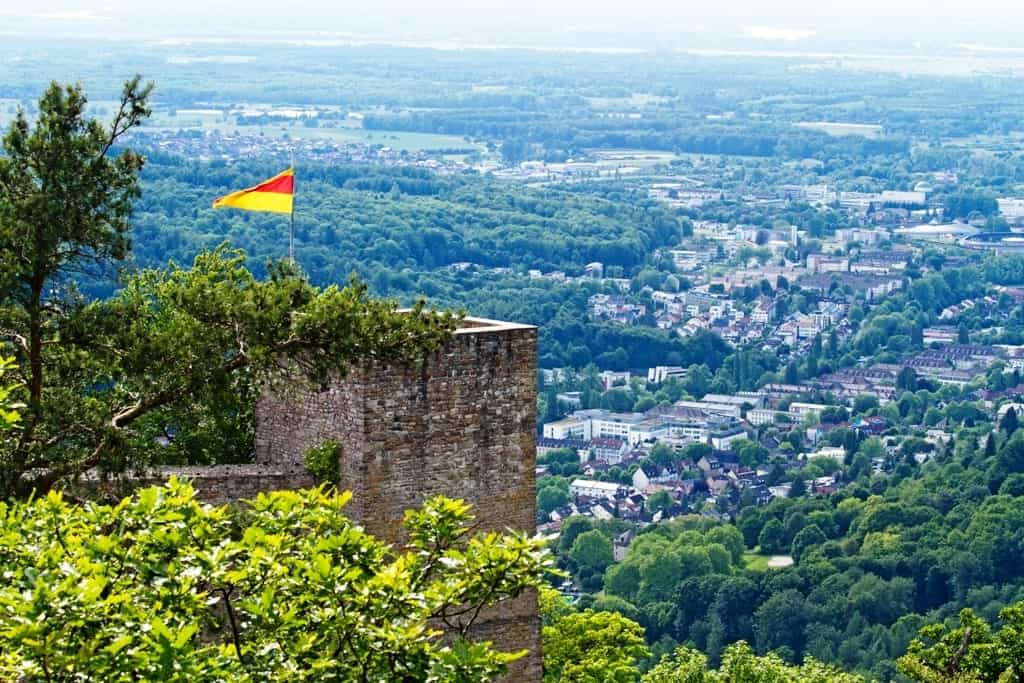 Altes Schloss Hohenbaden - things to do in the spa town of Baden Baden