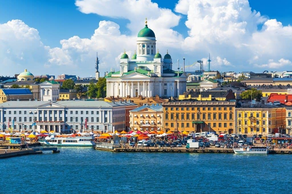 Helsinki on eof the best places to go in August in Europe