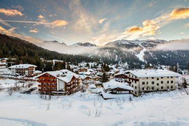 Ski Resort of Madonna di Campiglio  - Italy in winter
