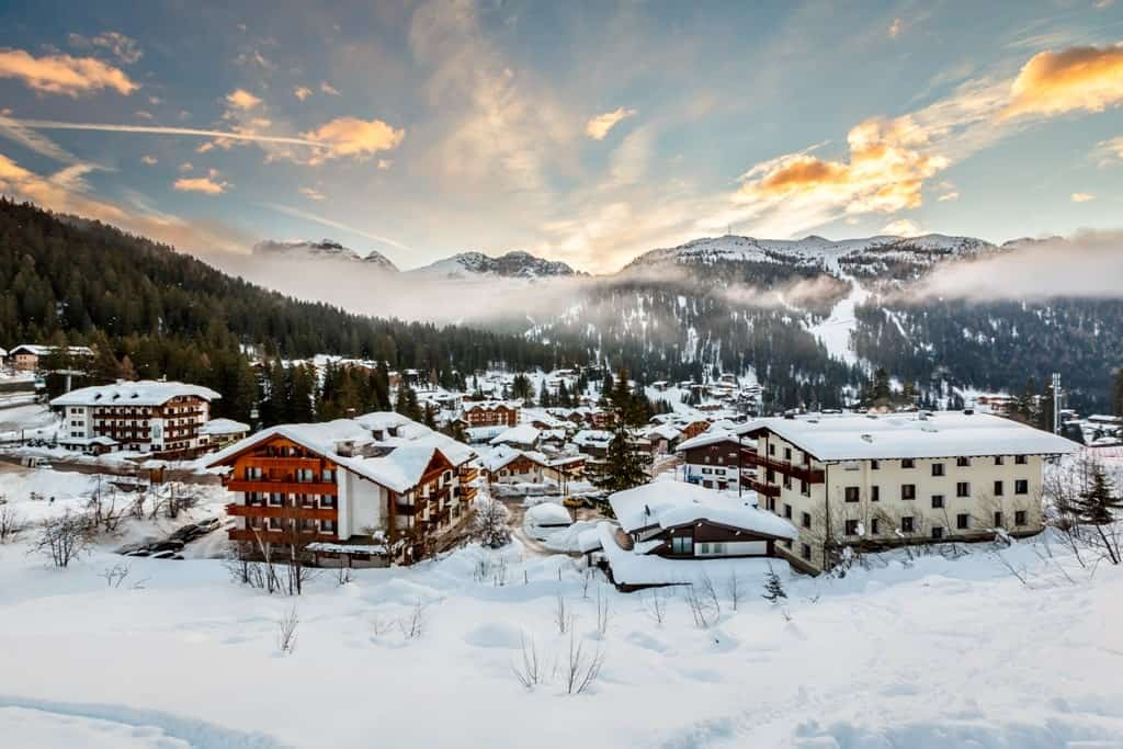 Ski Resort of Madonna di Campiglio - Italy in winter
