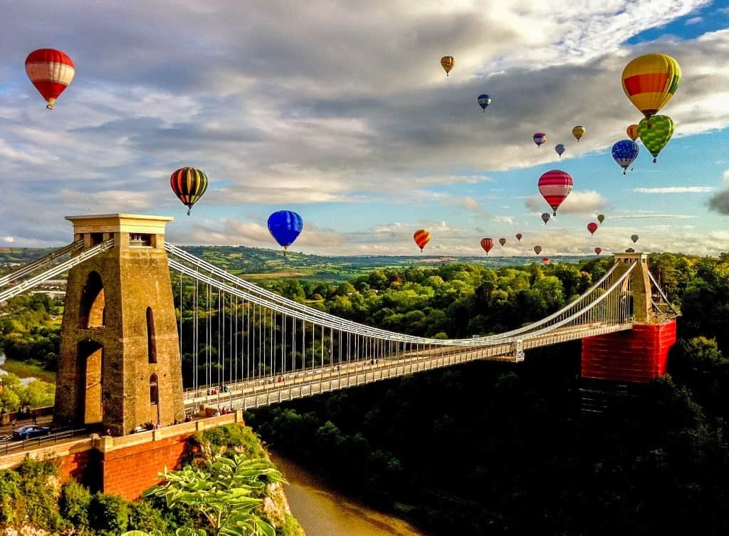 Bristol Balloon fiesta a great place to visit in August in Europe