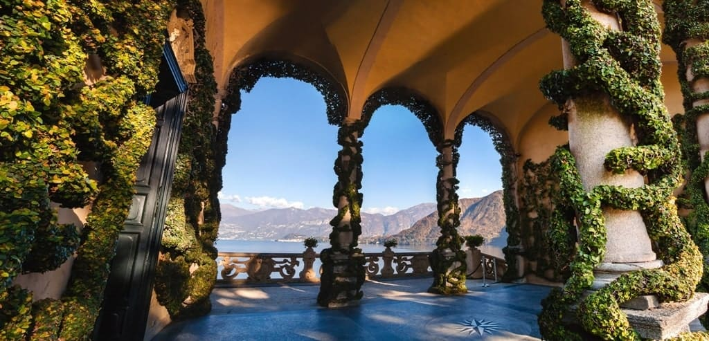 The park of Villa Balbianello in Lenno