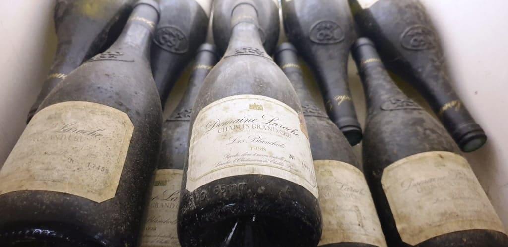 Domaine Laroche - bottles of Chablis aging
