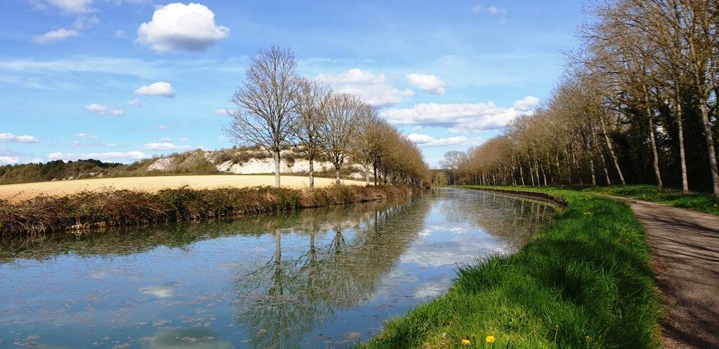 walking along the canals in Burgundy  -while barge cruising in France