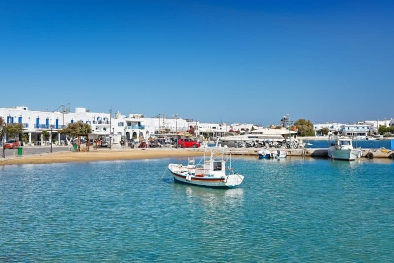 the port of Antiparos island - Greek island hopping