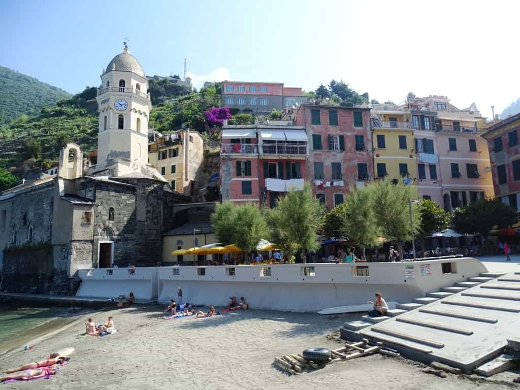 beach in Vernazza - best area to stay in Cinque Terre