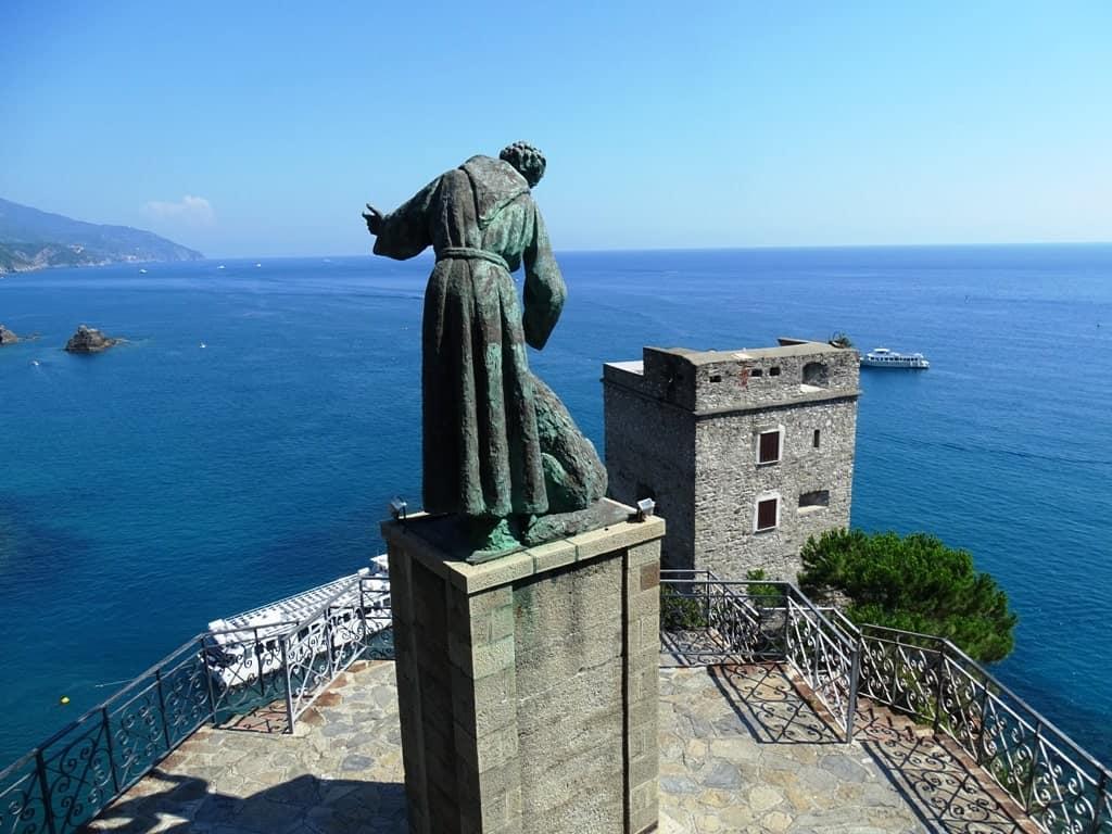 Neptune statue in Monterosso al Mare