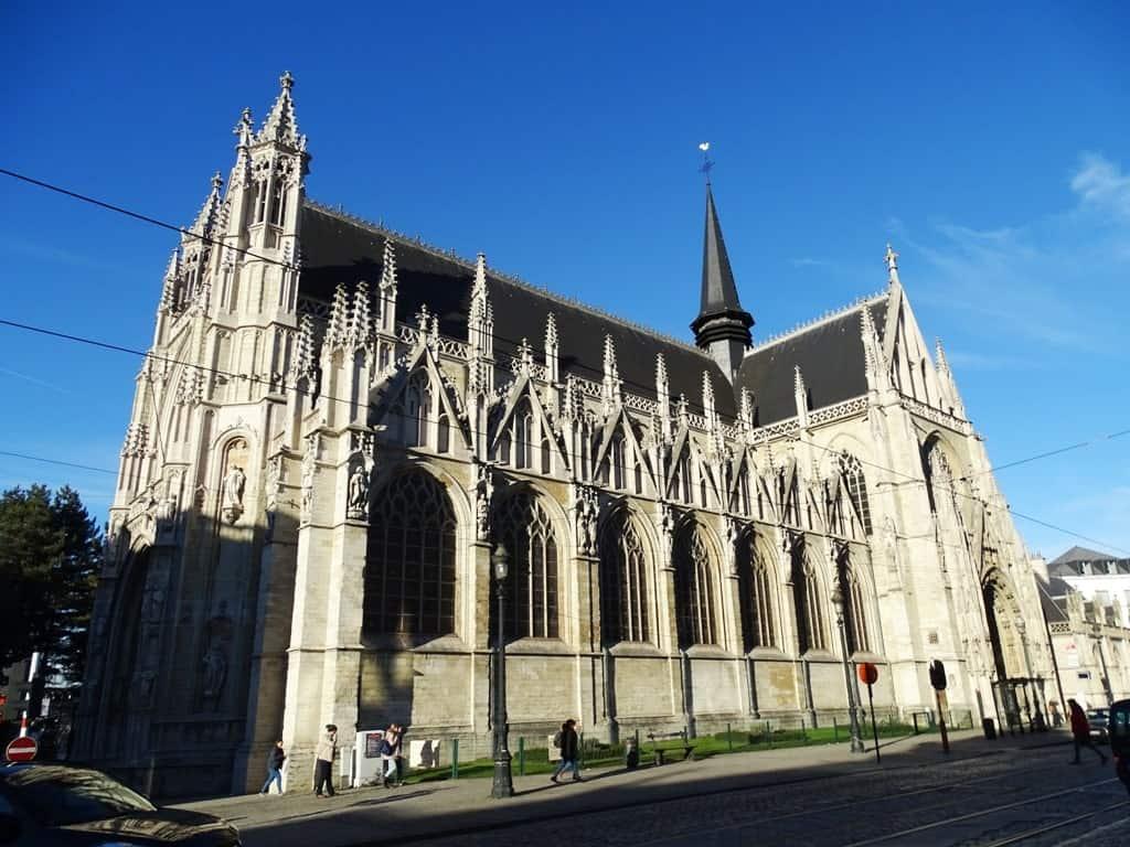 Notre Dame Du Sablon - winter in Brussels
