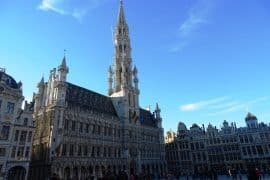 Grand Place Brussels in winter
