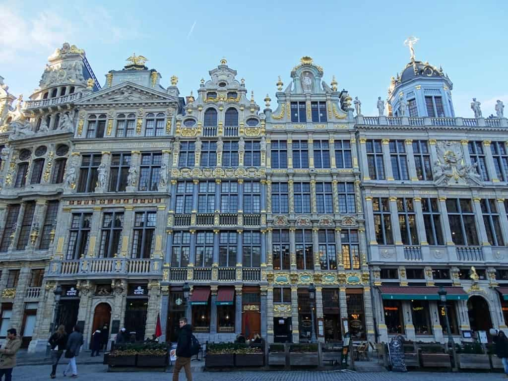 Grand Place Brussels Belgium in winter
