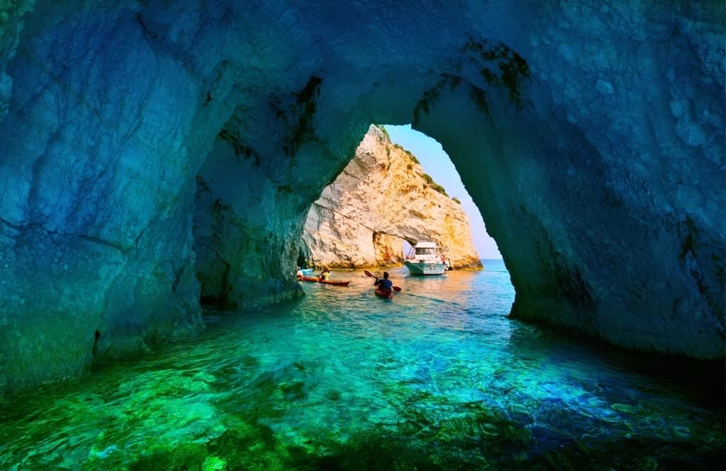 blue caves - things to see in Zante
