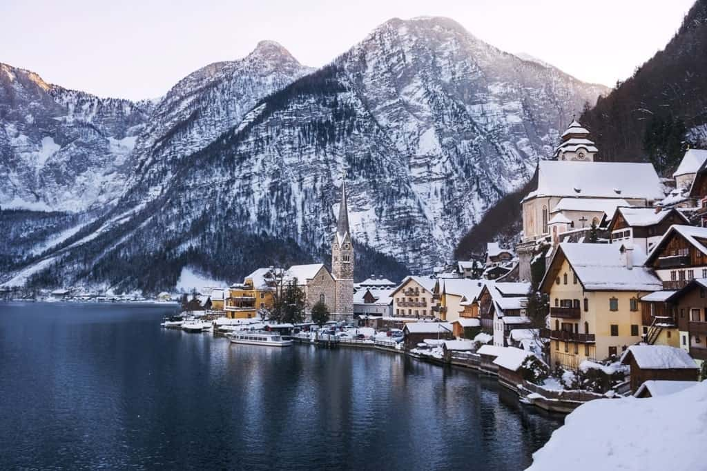 Hallstatt village - places to visit in Austria in winter